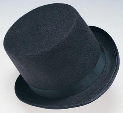 Black Durashape Top Hat - HalloweenCostumes4U.com - Accessories