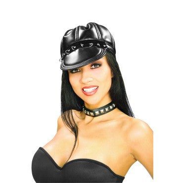 Black Biker Cap - HalloweenCostumes4U.com - Accessories
