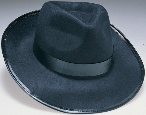 Black Durashape Gangster Hat - HalloweenCostumes4U.com - Accessories