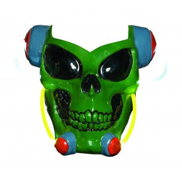 Green Alien Skull Light Up Mask - HalloweenCostumes4U.com - Accessories