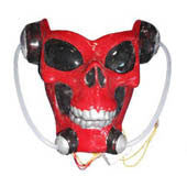 Red Alien Skull Light Up Mask - HalloweenCostumes4U.com - Accessories