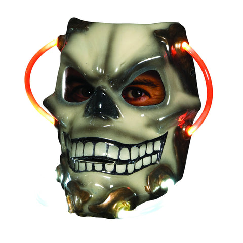 Skull Light Up Mask - HalloweenCostumes4U.com - Accessories