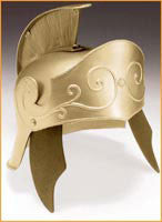 Gold Roman Helmet - HalloweenCostumes4U.com - Accessories