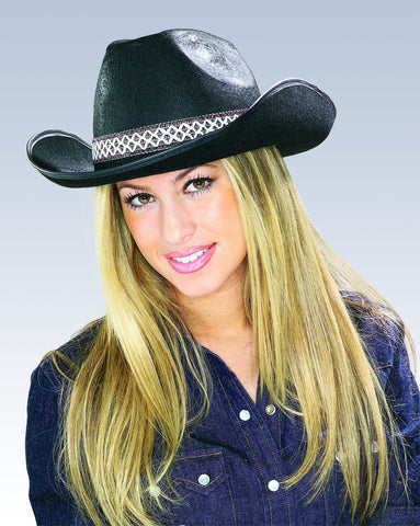 Black Cowboy Hat - HalloweenCostumes4U.com - Accessories