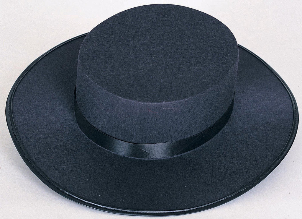 Black Spanish Durashape Hat - HalloweenCostumes4U.com - Accessories
