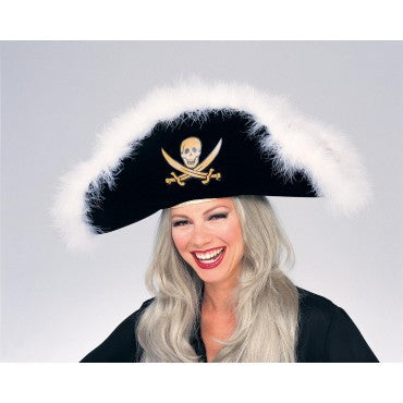 Fancy Pirate Hat - HalloweenCostumes4U.com - Accessories