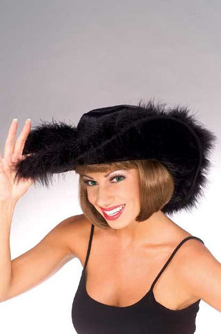 Black Midnight Cowgirl Hat - HalloweenCostumes4U.com - Accessories