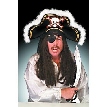 Fiber Optic Pirate Hat - HalloweenCostumes4U.com - Accessories