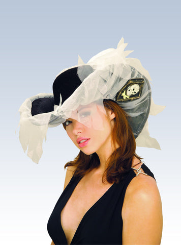 Ghost Ship Pirate Hat - HalloweenCostumes4U.com - Accessories