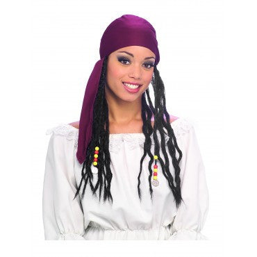 Pirate Bandanna with Dreads Wig - HalloweenCostumes4U.com - Accessories