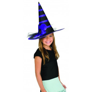 Kids Purple Daisy Witch Hat - HalloweenCostumes4U.com - Accessories