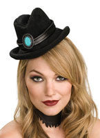 Black Mini Cowboy Hat - HalloweenCostumes4U.com - Accessories