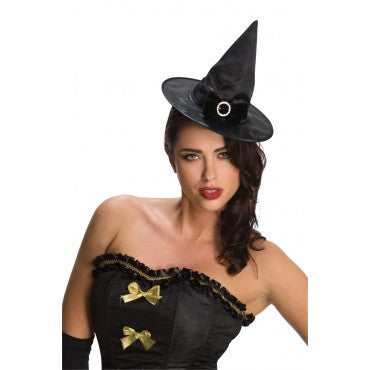 Black Mini Bow Witch Hat - HalloweenCostumes4U.com - Accessories