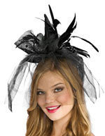 Black Mini Witch Hat - HalloweenCostumes4U.com - Accessories