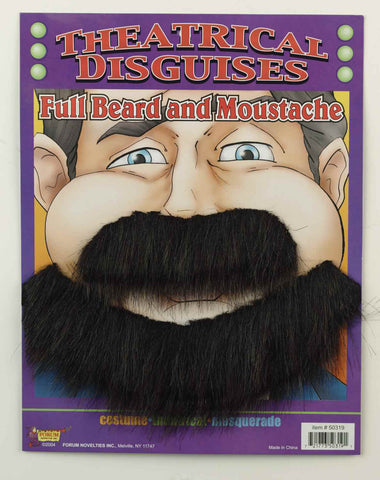Halloween Costume Beard/Moustache Southern Gentleman - HalloweenCostumes4U.com - Accessories