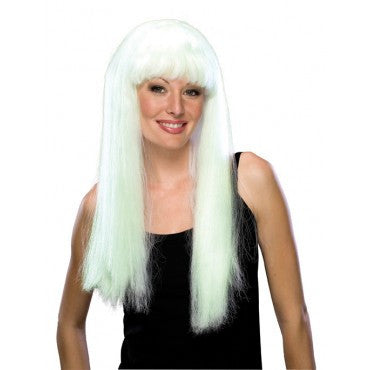 Glow in the Dark Long Wig - HalloweenCostumes4U.com - Accessories