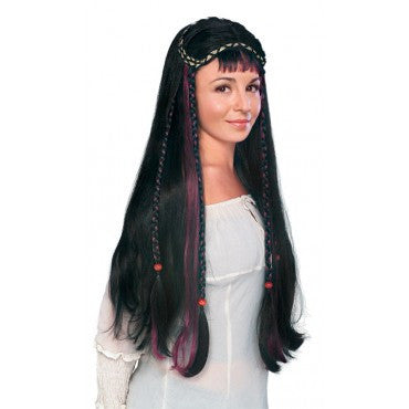 Black Renaissance Fair Maiden Wig - HalloweenCostumes4U.com - Accessories