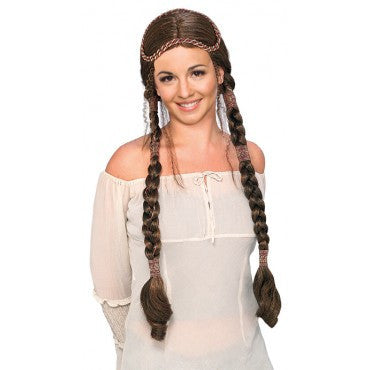 Brown Renaissance Lady Wig - HalloweenCostumes4U.com - Accessories