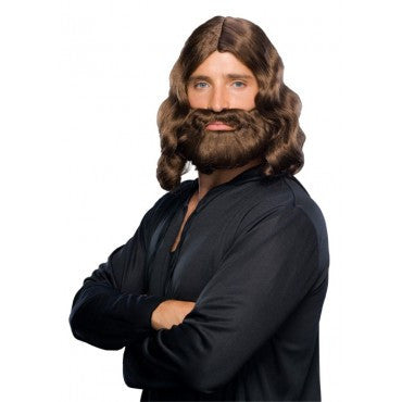 Biblical Wig and Beard Set - Various Colors - HalloweenCostumes4U.com - Accessories - 1
