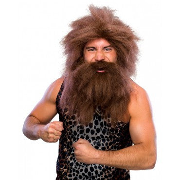 Caveman Beard and Wig Set - Various Colors - HalloweenCostumes4U.com - Accessories - 1