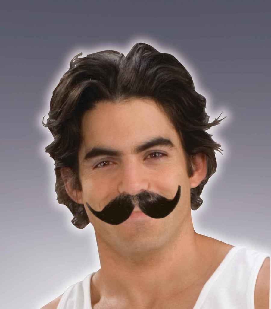 Full Winged Moustache-Black - HalloweenCostumes4U.com - Accessories