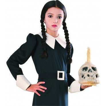 Girls Addams Family Wednesday Addams Wig - HalloweenCostumes4U.com - Accessories
