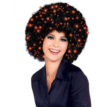Fiber Optic Afro Wig - Various Colors - HalloweenCostumes4U.com - Accessories - 1