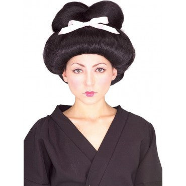 Geisha Wig with Ribbon - HalloweenCostumes4U.com - Accessories
