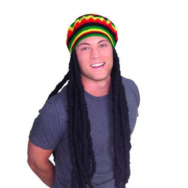 Rasta Wig with Cap - HalloweenCostumes4U.com - Accessories - 2