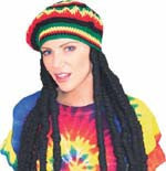 Rasta Wig with Cap - HalloweenCostumes4U.com - Accessories - 1