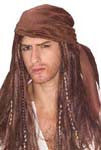 Caribbean Pirate Wig - HalloweenCostumes4U.com - Accessories