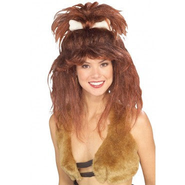 Cavewoman Wig with Bone - HalloweenCostumes4U.com - Accessories