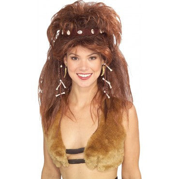Cavewoman Wig with Headband - HalloweenCostumes4U.com - Accessories