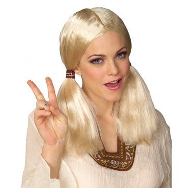 Blonde Hippie Wig - HalloweenCostumes4U.com - Accessories