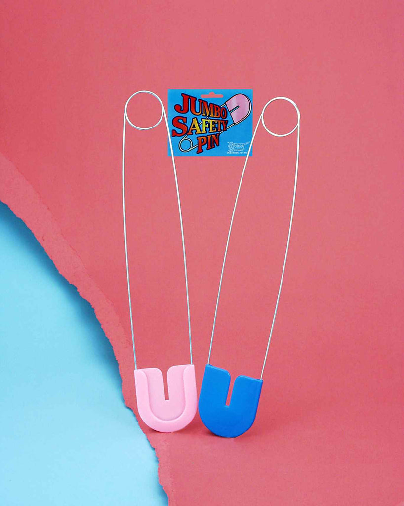 Halloween Costumes Giant Baby Diaper Pins Blue - HalloweenCostumes4U.com - Accessories