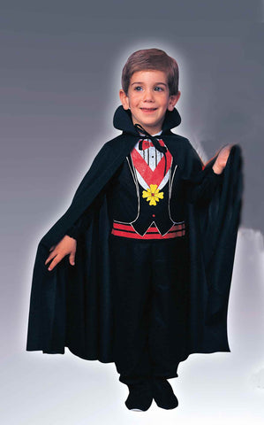 Kid's Vampire Capes Black 27 inch Cape - HalloweenCostumes4U.com - Accessories