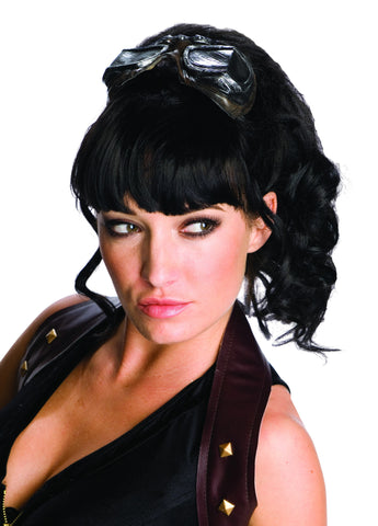 Black Steam Punk Wig w/ Attached Goggles - HalloweenCostumes4U.com - Accessories