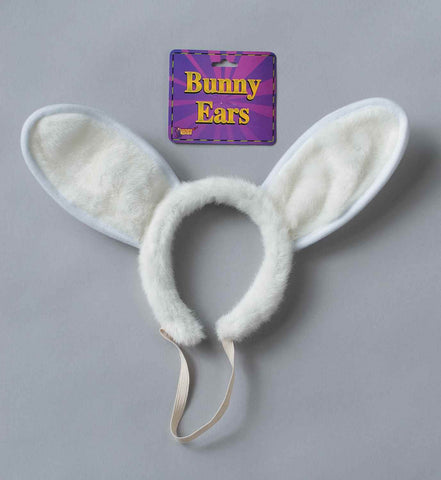 White Bunny Ears Costume Headband - HalloweenCostumes4U.com - Accessories