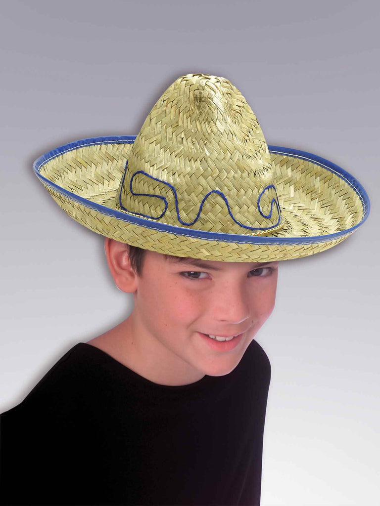 Kid's Mexican Sombrero Costume Hat - HalloweenCostumes4U.com - Accessories