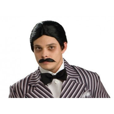 Gomez Addams Wig and Moustache Set - HalloweenCostumes4U.com - Accessories