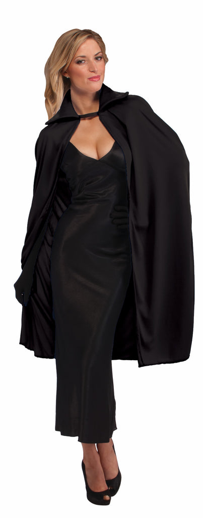 Halloween Capes Long Black 45 inch Cape - HalloweenCostumes4U.com - Accessories