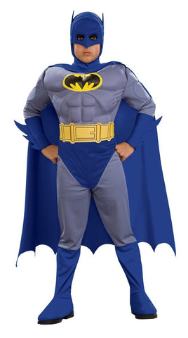 Boys Deluxe Batman Muscle Chest Costume