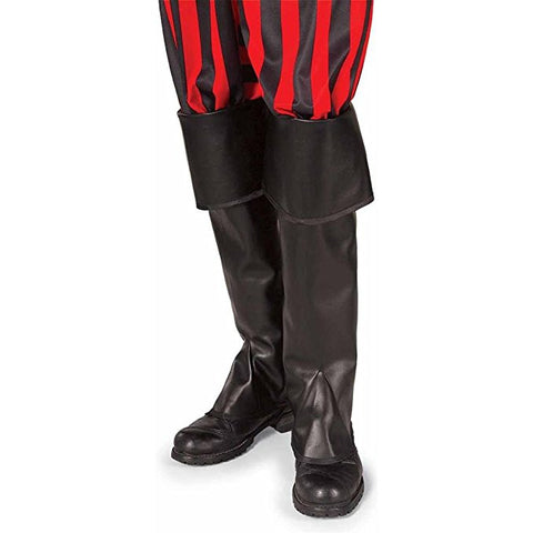 Black Pirate or Santa Costume Boot Tops