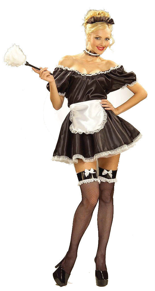 Halloween Costumes French Maid Adults Costume