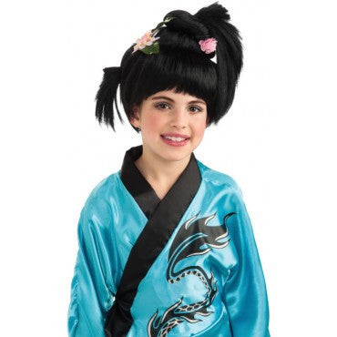 Kids Geisha Girl Wig - HalloweenCostumes4U.com - Accessories