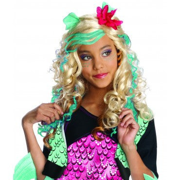 Girls Monster High Lagoona Blue Wig - HalloweenCostumes4U.com - Accessories