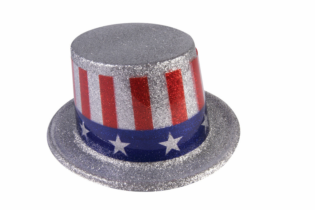 Costume Hats Uncle Sam Glitter Top Hats - HalloweenCostumes4U.com - Holidays
