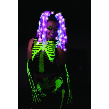 Pink Tubular Lightup Wig - HalloweenCostumes4U.com - Accessories