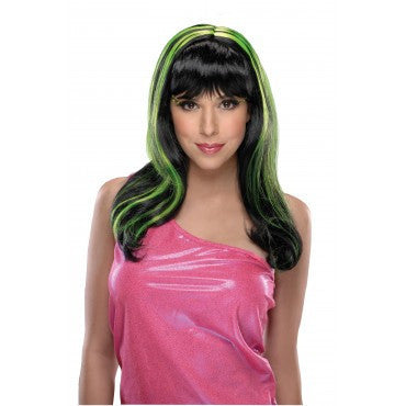 Neon Streaks Wig - Various Colors - HalloweenCostumes4U.com - Accessories - 2
