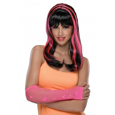Neon Streaks Wig - Various Colors - HalloweenCostumes4U.com - Accessories - 3